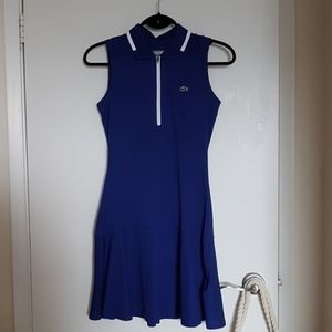 Chic Lacoste sapphire blue tennis dress